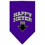 Happy Meter Screen Print Bandana Purple Small